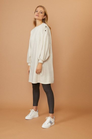 Oatmeal Popper Tunic Dress