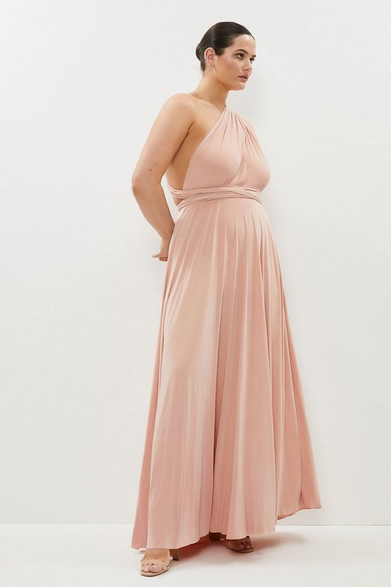 Blush Curve Multiway Jersey Maxi Dress