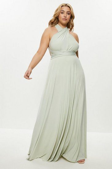 Pistachio Curve Multiway Jersey Maxi Dress