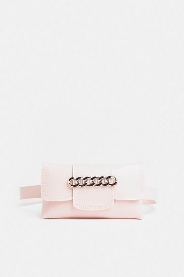 Blush Chain Detail Belt Bag