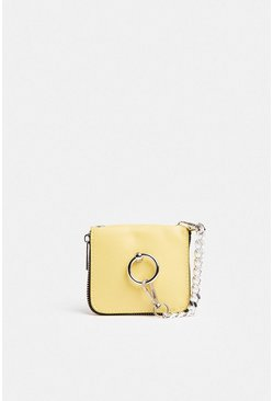 Yellow Ring Detail Mini Cross Body Bag