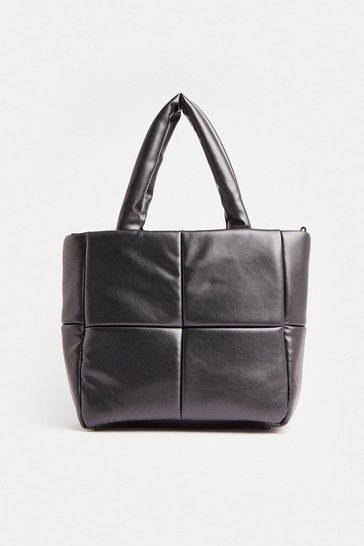 Black Premium Quilted Shopper Bag