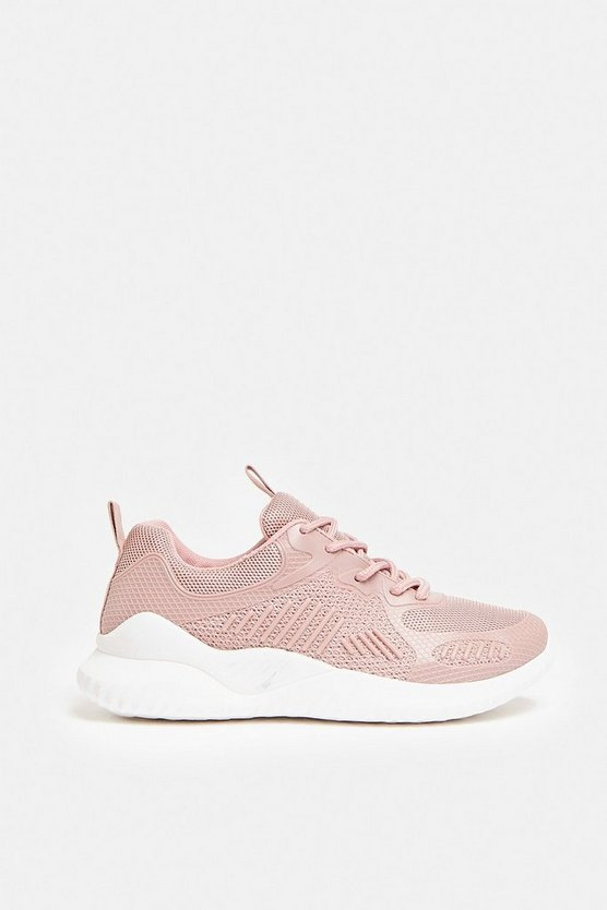 Pink Chunky Sole Gym Trainers