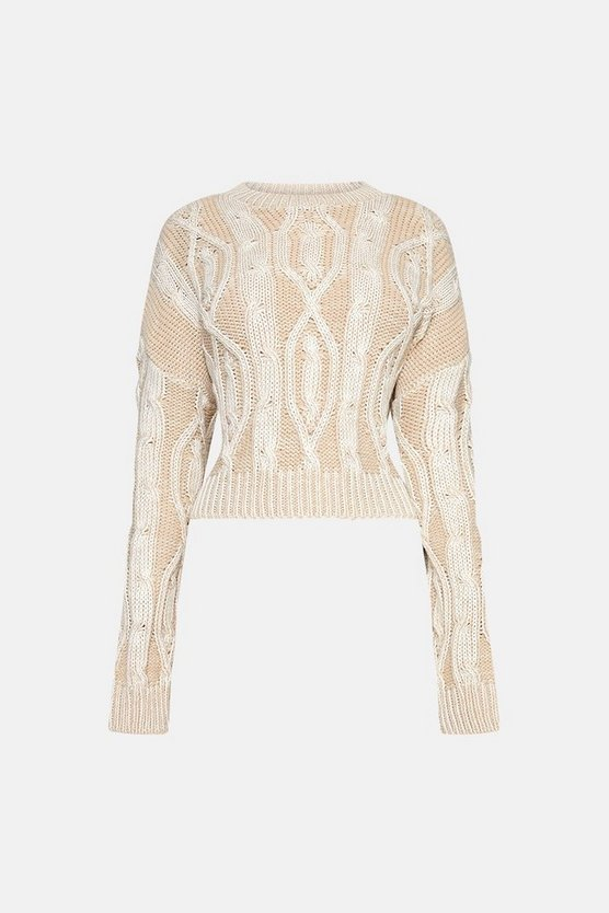 Stone Knitted Long Sleeve Jumper