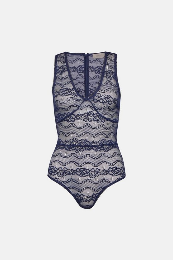 Navy Sheer Lace Body