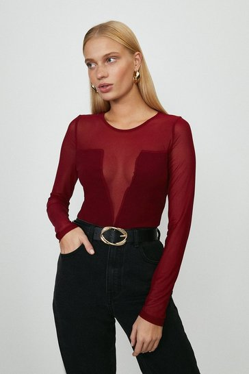 Berry Mesh Detail Body