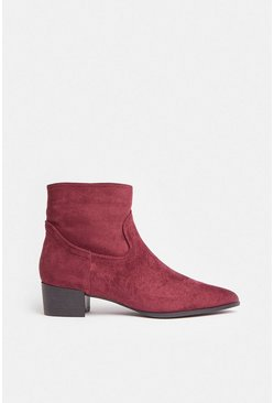 Berry Suedette Ankle Boots