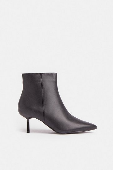 Black Heeled Pixie Ankle Boots