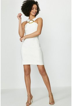 Ivory Hardware Halterneck Mini Dress
