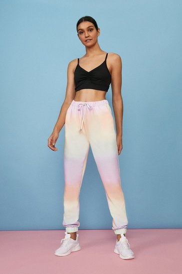 Pastel blue Ombre Loungewear Pocket Detail Jogger