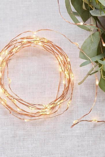 Rose gold Ginger Ray Rise Gold Led String Lights