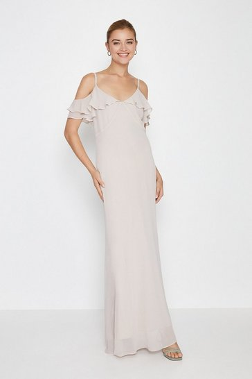 Mink Cold Shoulder Maxi Dress