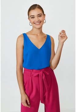 Cobalt V Neck Vest Top