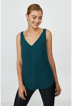 Forest V Neck Vest Top
