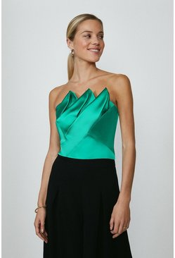 Emerald Detailed Corset Top
