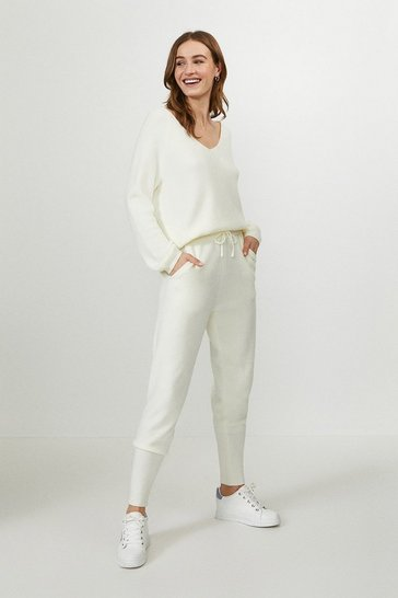 Ivory Knitted Jogger
