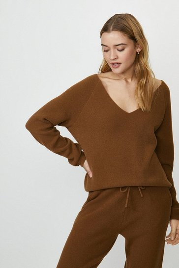 Camel Knitted Top