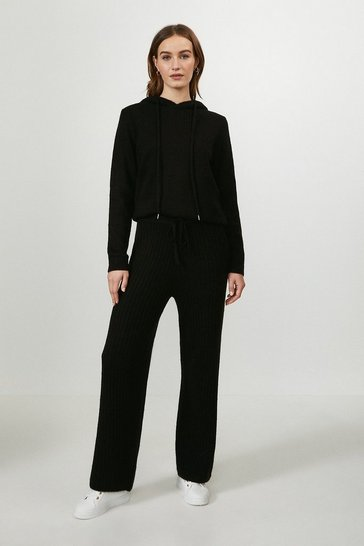 Black Knitted Trouser