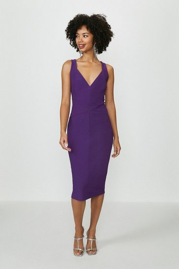 Purple Detail Midi Dress