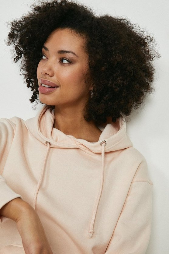 Blush Brave Soul Hooded Sweat Top
