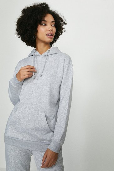 Grey Brave Soul Hooded Sweat Top