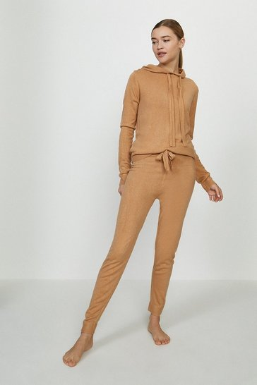 Caramel Hooded Sweat and Jogger Lounge Set