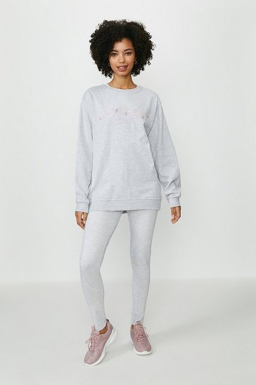 Grey La Vie Est Belle Sweater and Legging Set