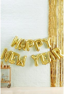Gold Ginger Ray Happy New Year Balloon Bunting