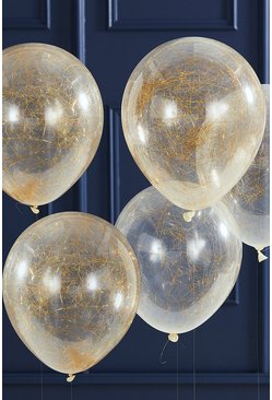 Gold Ginger Ray Frosted Christmas Balloons