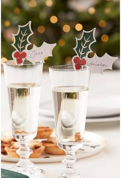 Multi Ginger Ray Christmas Holly Drink Toppers