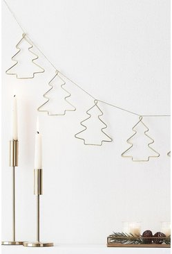 Gold Ginger Ray Wire Christmas Tree Bunting