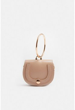 Cream Mini Saddle Bag
