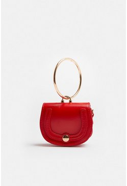 Red Mini Saddle Bag