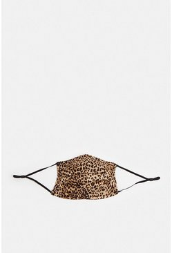 Natural Fashion Face Mask Ditsy Leopard