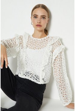 Ivory Lace Long Sleeve Top