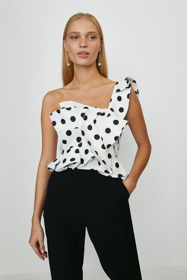 Mono Manipulated Spotty Top