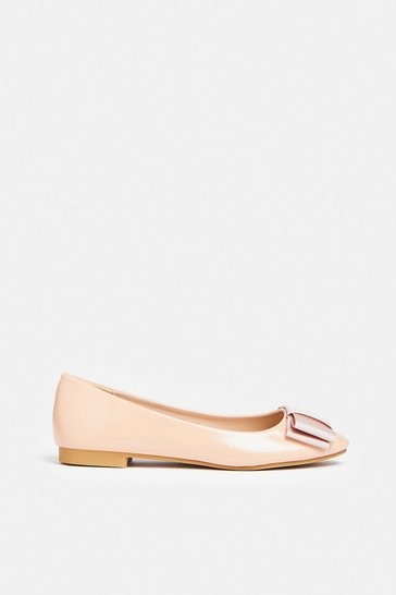 Nude Bow Ballet Pumps