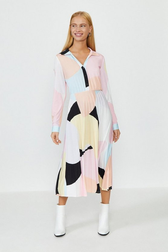 Blush Slinky Jersey Shirt Dress