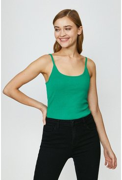 Green Essential Cotton Cami Top