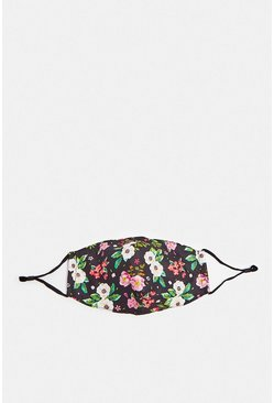 Navy Floral Printed Fashion Face Mask x 2 Filters