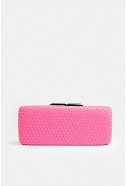 Pink Premium Colour Pop Box Clutch