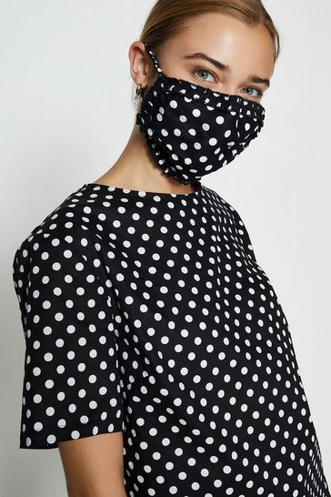 Mono Printed Woven T-Shirt And Face Covering Co-Ord Set