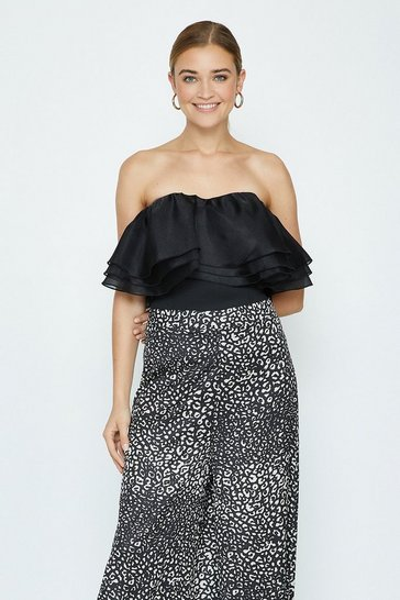 Black Animal Culottes