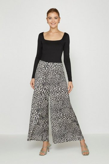 White Animal Culottes