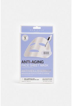 Blue 5 Pack Anti-Aging Sheet Face Masks
