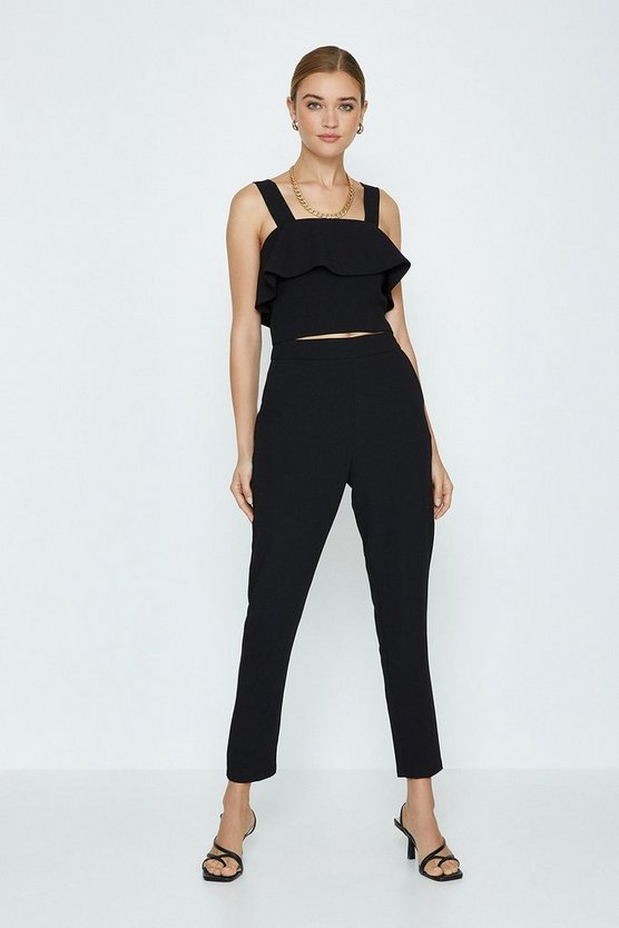 Black Co-ord High Waisted Trouser