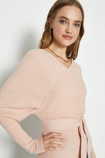Nude Knitted Off The Shoulder Top