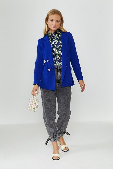 Cobalt Tailored Girlfriend Blazer