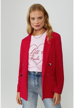 Red Tailored Girlfriend Blazer