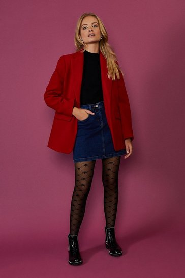 Red Formal Blazer Coat